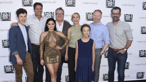 Algunos de los actores que conforman el reparto de «Modern Family»