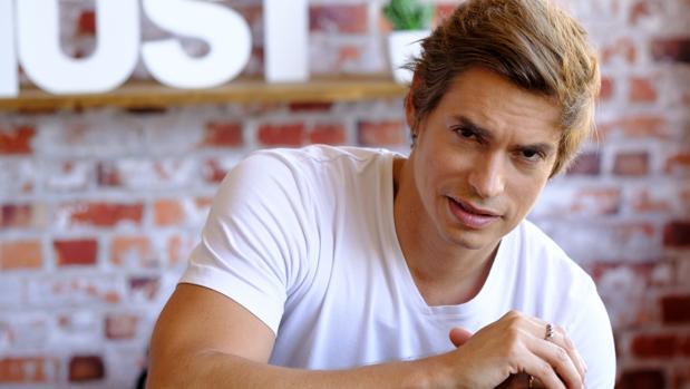 Carlos Baute, durante la entrevista con ABC