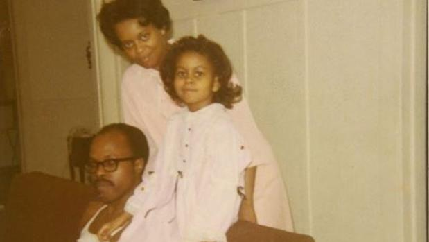Michelle Obama junto a sus padres