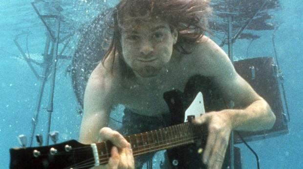 El guitarrista y cantante de Nirvana, Kurt Cobain,