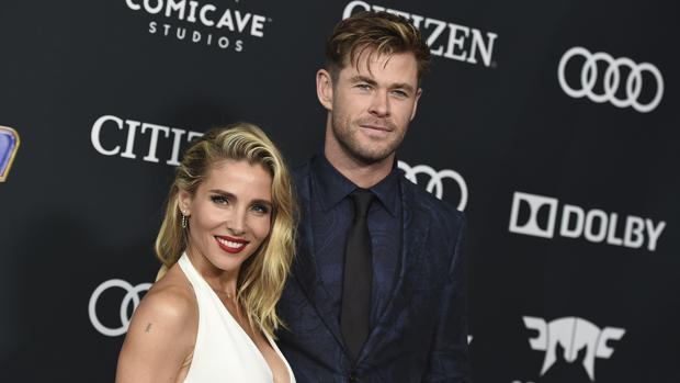 Elsa Pataky y Chris Hemsworth en la premiere de «Avengers:Endgame» en Los Ángeles.