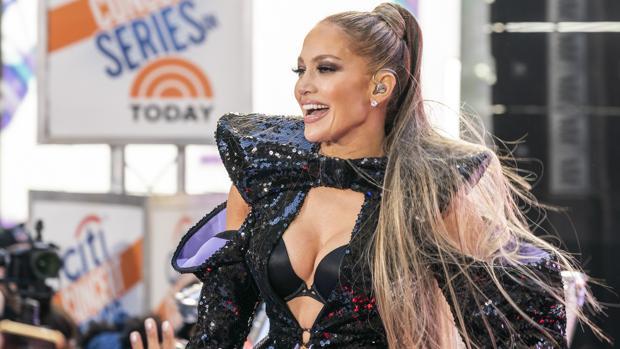 Jennifer Lopez, durante una reciente actuación