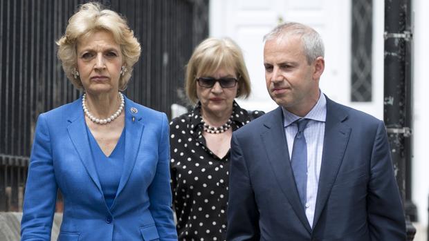 Fiona Shackleton y el director delos supermercados ingleses Ocado, Tim Steiner, al que defendió en su divorcio
