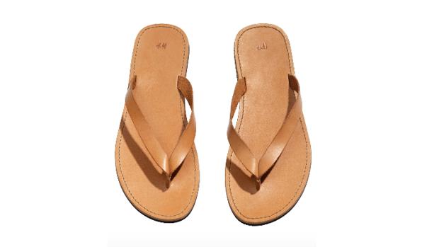 Sandalias romanas de cuero de H&M, 29 euros