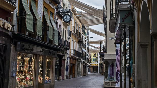 Calle Sierpes, en Sevilla