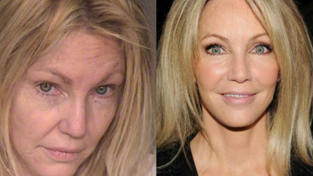 A la izquierda, Heather Locklear arrestada