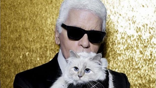 Karl Lagerfeld y su gata, Choupette