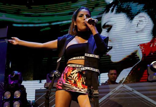 Isa Pantoja en la presentación de su nu nueva canción