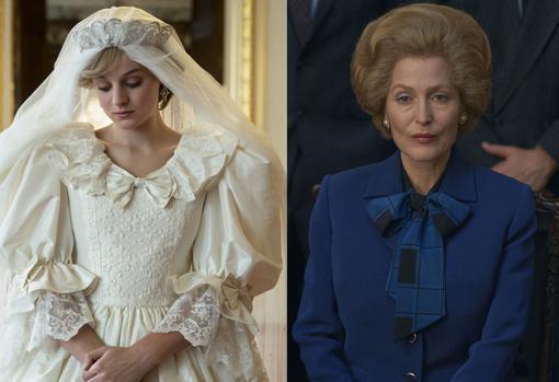 Emma Corrin y Gillian Anderson como Lady Di y Margarte Tatcher respectivamente