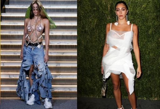 Left, Lourdes' NYFW debut;  right, at the CFDA Awards