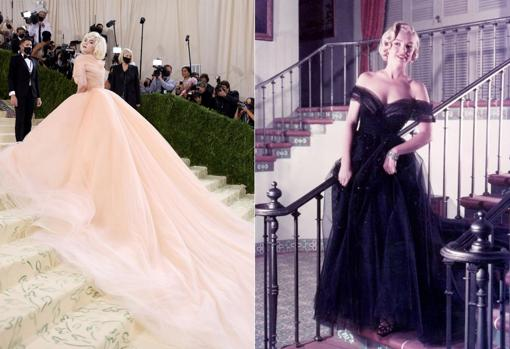 Billie Eilish at the 2021 Met Gala and Marilyn Monroe at the 1951 Oscars