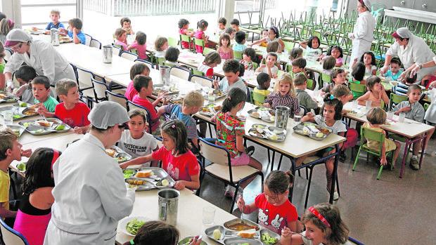 Comedor escolar del colegio Balmes de Valencia