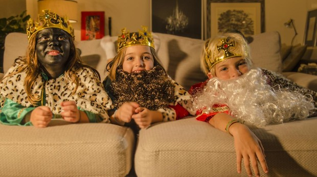 Los Reyes Magos son los niños.