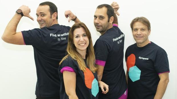 Nacho, María, Juan Carlos y Óscar, participantes en el reto Gympass.