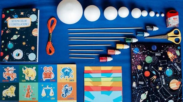 Caja creativa de manualidades para conocer más sobre el sistema solar