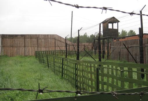 Imagen parcial del campo de trabajo Perm-36, creado en la década de 1940
