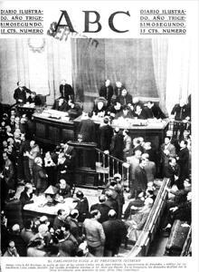 La pelea en el Congreso entre un socialista y un conservador que anticipó la Guerra Civil
