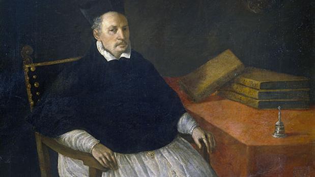 Retrato de Diego de Deza realizado por Zurbarán.