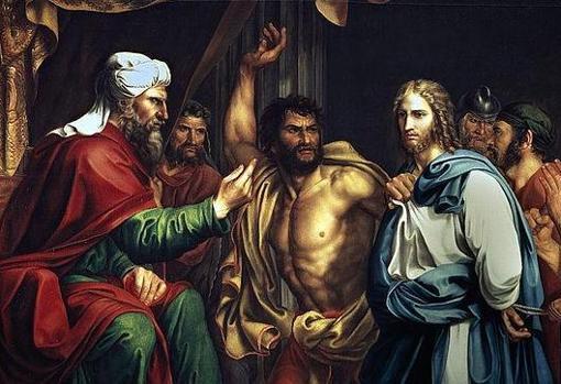 Cuadro que recoge el episodio de Jesús en casa de Anás, sumo sacerdote judío junto con Caifás