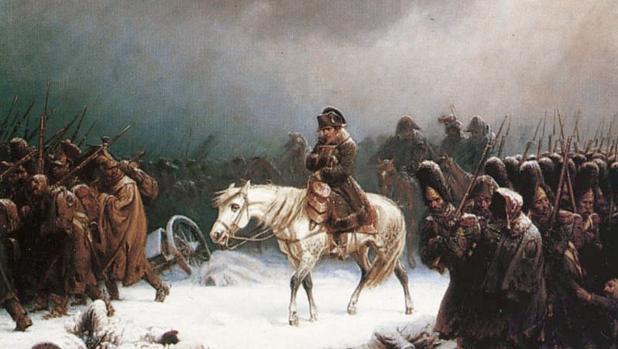 Napoleón retirándose de Moscú, por Adolph Northen