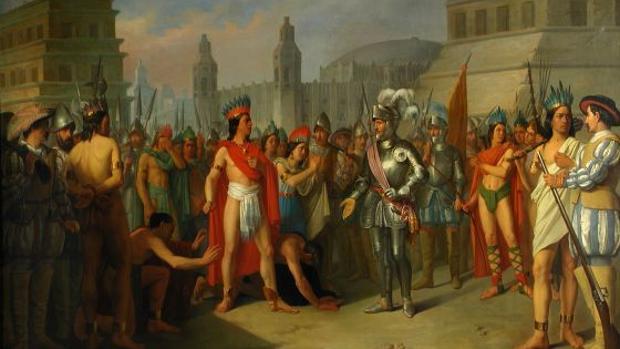 Apresamiento del último emperador de México por las tropas de Hernán Cortés