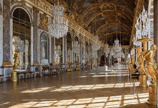 Galería de los Espejos de Versalles. Una de las estancias más impresionantes del Palacio
