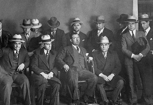 Fotografía de los miembros de la Mafia Calabresa en 1928