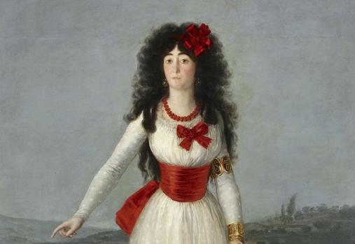 La duquesa de Alba de Tormes, retratada por Francisco de Goya en 1795.