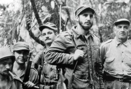 Castro y su guerrilla, en 1957