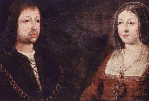 Los Reyes Católicos, Fernando II de Aragón e Isabel I de Castilla.