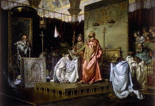 Conversión de Recaredo, hijo de Leovigildo, al cristianismo