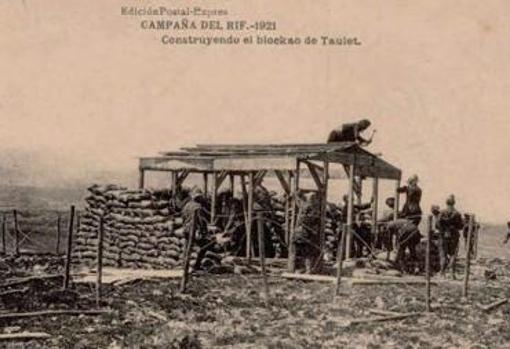 Blocao español en la campaña del Rif