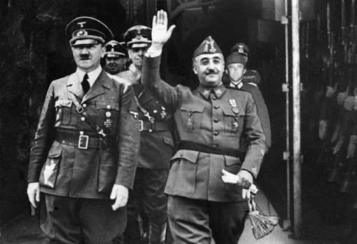 La popular fotografía de Hitler y Franco durante la entrevista de Hendaya