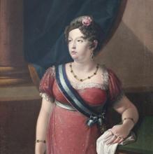 Portrait of María Isabel de Braganza.