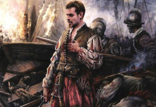 Cervantes at the Battle of Lepanto