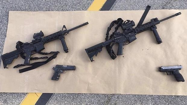 Varias armas confiscadas en relación al ataque de San Bernardino