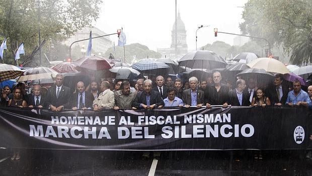Marcha en Buenos Aires tras la muerte del fiscal Nisman
