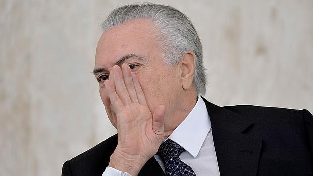 El presidente interino de Brasil, Michel Temer, durante un acto de entrega de cartas credenciales de embajadores, la semana pasada en el Palacio de Planalto, Brasilia