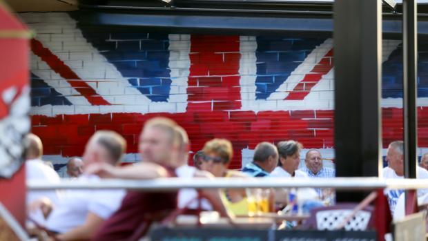 Británicos en Benidorm (Alicante)