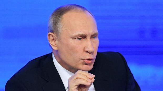 Putin hoy, durante su conferencia de prensa anual en el Kremlin