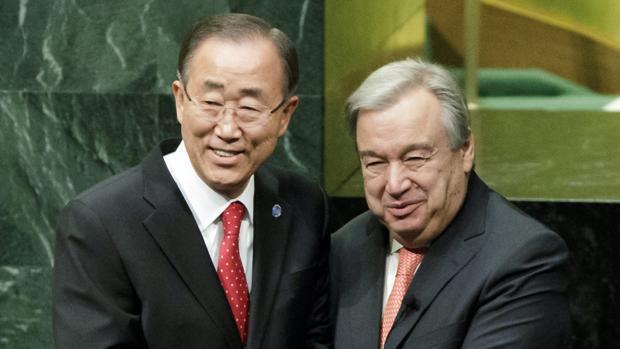 Ban Ki-moon y António Guterres el pasado mes de diciembre