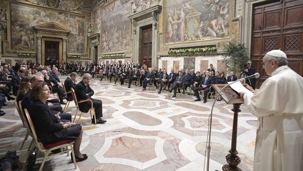 Audiencia del Papa con los líderes de los 27 países de la UE el pasado 24 de marzo