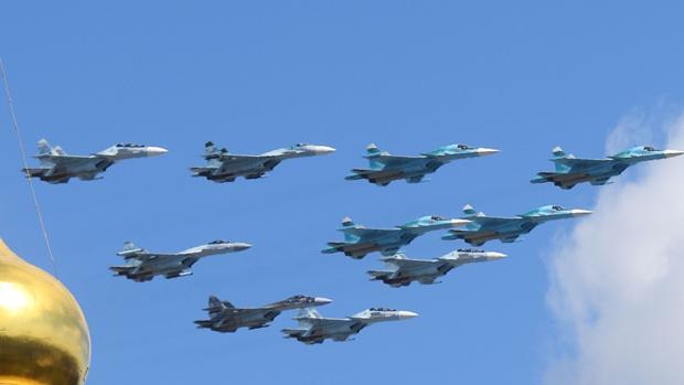 Imagen de archivo de cazas rusos