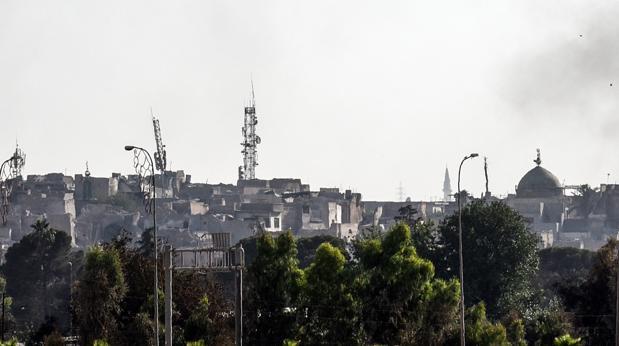Una imagen de la ciudad de Mosul, tomada ayer