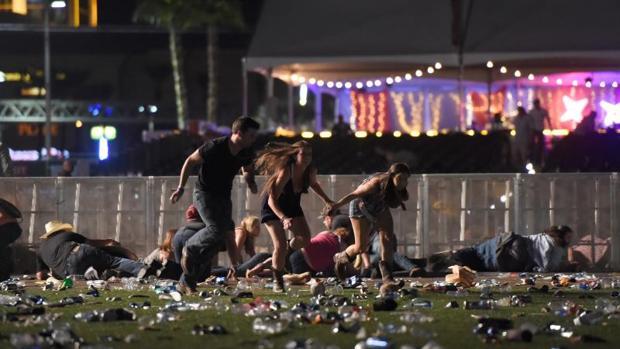 Imagen del tiroteo en Las Vegas, donde hay al menos dos víctimas mortales