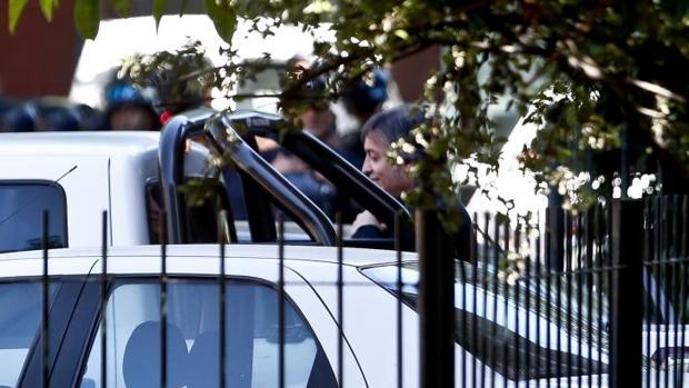 Máximo Kirchner, a la salida de los tribunales tras comparecer ante el juez por supuesto lavado de dinero, este lunes en Buenos Aires
