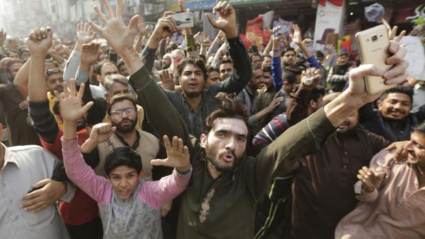 Foto de archivo manifestación