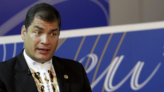 Rafael Correa durante una reciente entrevista