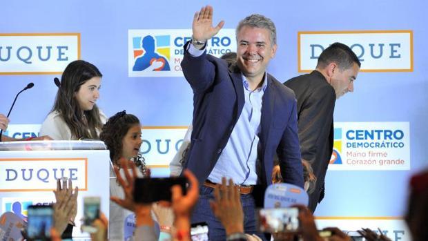 Iván Duque, candidato a la presidencia de Colombia por Centro Democrático, tras conocerse los resultados de las legislativas del domingo