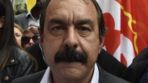 Philippe Martinez, secretario general de la CGT, uno de los grandes sindicatos de Francia